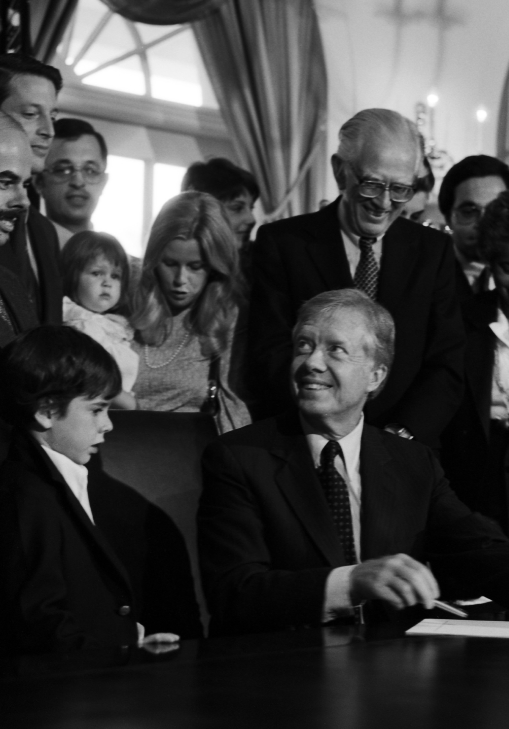 President Carter with a group of people