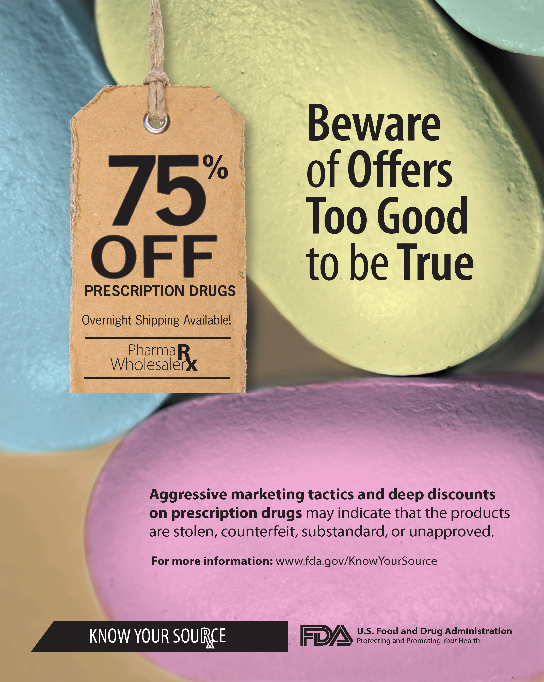 Beware of Offers Too Good to be True flyer