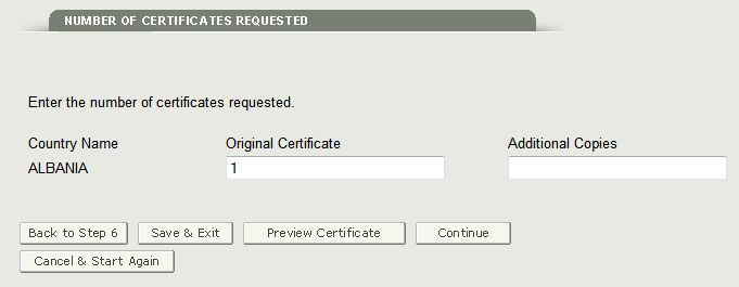 Figure 23 Number of Certificated Requested