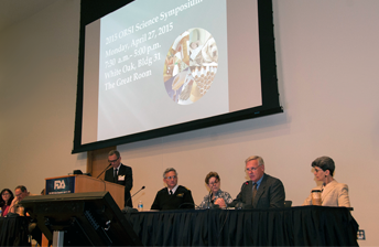Photo of panel at ORSI Science Symposium