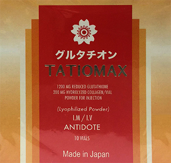 Tatiomax injectable Skin Lightening Product seized by US Marshals Sept. 2014_350x334