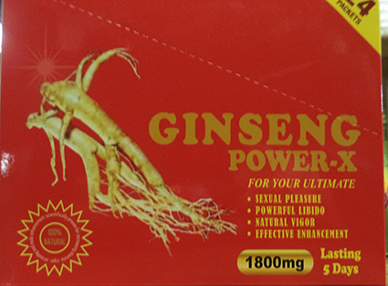 Ginseng Power-X front box label