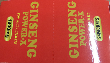 Ginseng Power-X top box label