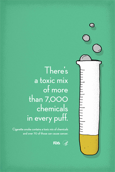 There is a toxic mix of more than 7000 chemicals in every puff poster