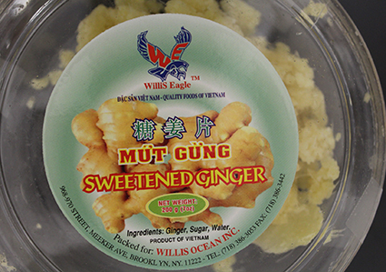 Label, Willis Eagle Sweetened Ginger