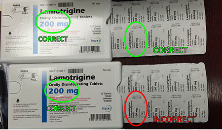 Lamotrigine 200 mg Orally Disintegrating Tablets, product image